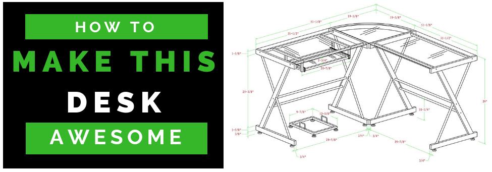 blueprint of desk